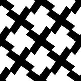 Seamlessly repeatable geometric pattern - Abstract monochrome ba Stock Photo