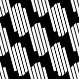 Seamlessly repeatable geometric pattern - Abstract monochrome ba Royalty Free Stock Image