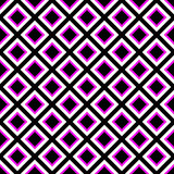 Seamlessly repeatable monochrome square, block geometry pattern. Royalty Free Stock Image