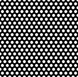 Seamlessly repeatable pattern with dots, circles. Monochrome abs Royalty Free Stock Photo