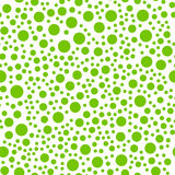 Seamlessly repeatable pattern with random green circles vector illustration