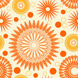 Seamlessly repeating floral pattern Stock Photo