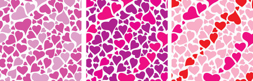 Color set heart pattern for Valentine's day Stock Images