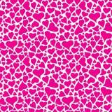 Magenta hearts pattern Stock Photo