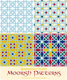 Seamlessly Tiling Moorish Patterns Set Stock Photo