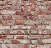 Seamlessly tiling old red brick wall. Royalty Free Stock Photos
