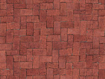 Seamlessly tiling red brick floor texture. Seamlessly tiling red brick floor texture Royalty Free Stock Photography