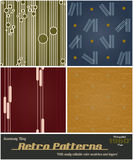 Seamlessly tiling retro patterns Royalty Free Stock Image