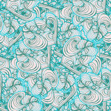 Seamlessly tiling wave pattern. Doodle style tile for print.Seamless pattern. Vector illustration. Wave and curl vector illustration