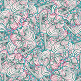 Seamlessly tiling wave pattern. Doodle style tile for print.Seamless pattern. Vector illustration. Wave and curl royalty free illustration