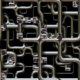 Seamlessly tubing background 3d rendering. Seamlessly tubing background - the pipes Royalty Free Stock Photos