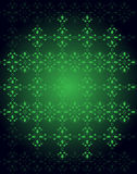 Seamlessly Wallpaper with dark green color tones. Royalty Free Stock Photos
