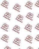 Seamlesss background. With brown boats royalty free illustration