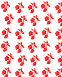 Seamlesss background. With red fruits stock illustration