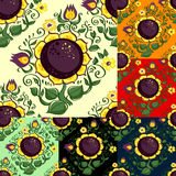SeamlessSunflower. Seamless pattern with sunflowers and leaves Royalty Free Stock Image