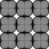 Seamliss geométricos abstratos teste padrão, papel de parede, preto e branco Imagens de Stock Royalty Free