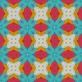 Seammlesspatroon met decoratief ornament Stock Afbeelding