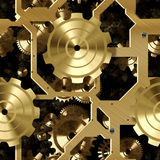 Seamnless Clockwork Background Stock Photo