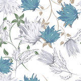 Seamples Flower illustration Royalty Free Stock Photos