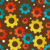 Seampless background with gears Stock Photos