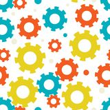 Seampless background with gears Royalty Free Stock Photo