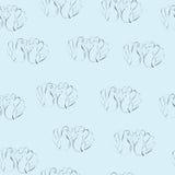 Seampless Muster der Liebestauben Stockfotografie