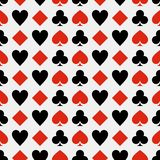 Seampless pattern playing cards backround stock illustration