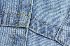 Seams on a jeans fabric Royalty Free Stock Photography