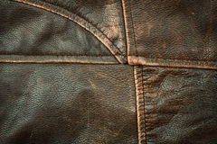 Seams on leather product Royalty Free Stock Images