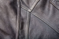 Seams on leather product Stock Photography