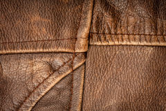 Seams on leather product Royalty Free Stock Image