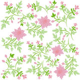 Seamsless ornate floral background Royalty Free Stock Image