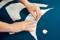 seamstress εργασία Στοκ εικόνες με δικαίωμα ελεύθερης χρήσης