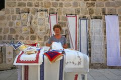 Seamstress, Dubrovnik Stock Photos