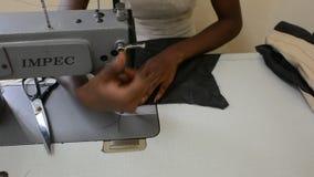 Seamstress stock footage