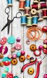 Seamstress and needlework Royalty Free Stock Photos
