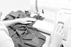 Seamstress in the process tailoring Royalty Free Stock Photo