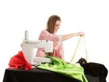 Seamstress at work Stock Image