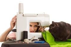 Seamstress at work Royalty Free Stock Photos