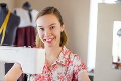 Seamstress at work Stock Photo