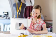 Seamstress at work Royalty Free Stock Images