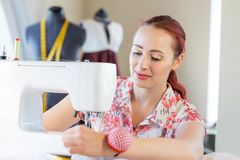 Seamstress at work Stock Image