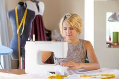 Seamstress at work Royalty Free Stock Photography