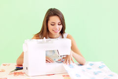 Seamstress working Royalty Free Stock Photography