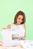 Seamstress working Royalty Free Stock Image