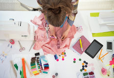 Seamstress working in studio Stock Photos