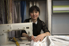 Seamtress worker, China Royalty Free Stock Images