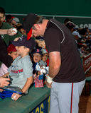 Sean Casey ondertekent autographs Stock Foto