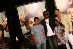 Sean Combs and his Sons #2. Sean Combs and his sons, attend the premiere of 'Get Him to the Greek' at the Greek Theater in Los Angeles Stock Photos