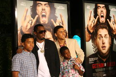 Sean Combs and his Sons #3 Royalty Free Stock Photo